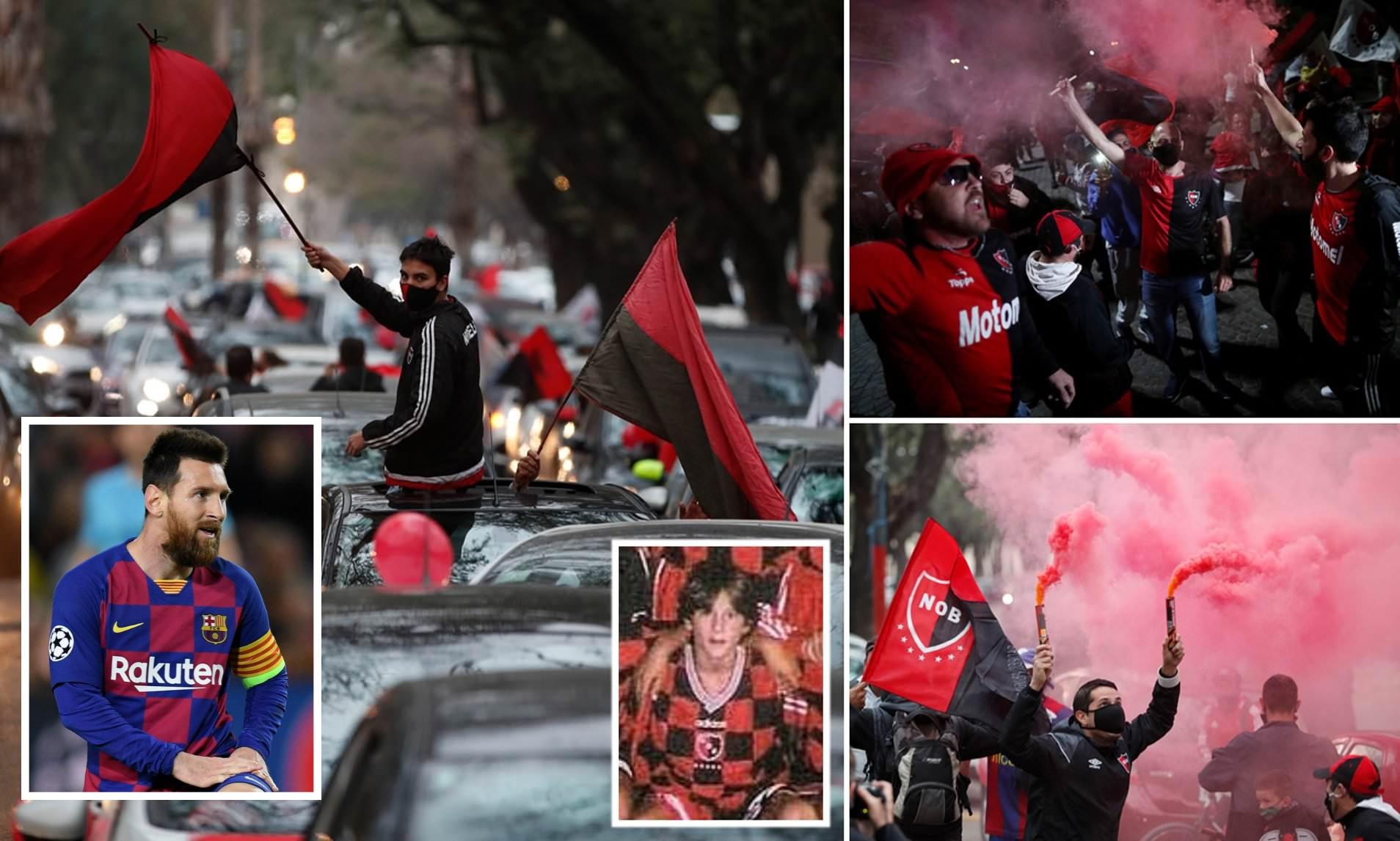 मेस्सीलाई 'फुटबल सिकेको क्लब फर्क' भन्दै अर्जेन्टिनामा विशाल प्रदर्शन : हेरौं १२ तस्बिरमा